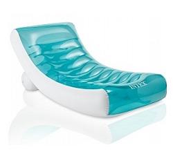 Надувной матрас-шезлонг для плавания с подстаканником