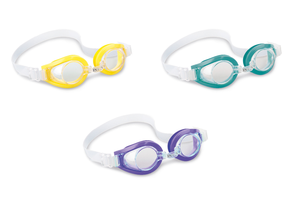 Очки для плавания PLAY от 3-8 лет, цвета микс