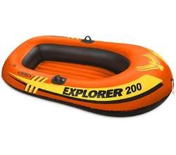 Надувная лодка EXPLORER 200 SET, до 95 кг, 185х94х41 см, весла и насос, от 6 лет
