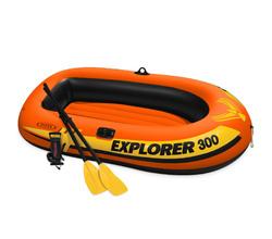 Лодка Explorer 300, 211х117х41 см, 3 местная, вёсла+насос, до 186 кг