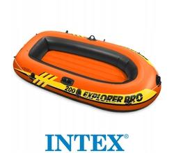 Лодка Explorer Pro 200, 2-местая, вёсла, насос, от 6 лет, до 120 кг