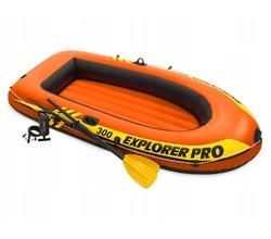 Лодка Explorer pro 300, 3 местная, 244х117х36 см, вёсла, ручной насос, до 200 кг