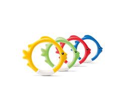 Кольца-рыбки для игр под водой, 4 цвета, от 6 лет