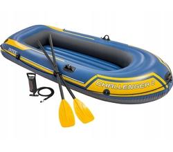 Лодка Challeneger 2, 2х-местная, 236х114х41 см (весла, насос), до 200 кг