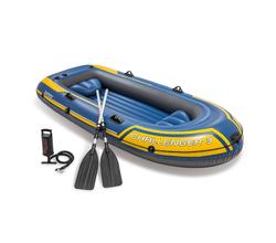 Надувная лодка CHALLENGER 3 SET (до 300 кг), 295х137х43 см, весла, насос, 2 подушки
