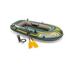 Лодка Seahawk 2, 2 местная, 236х114х41 см, вёсла, насос, до 200 кг