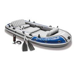 Лодка надувная «Экскурсия 5», вёсла алюминиевые, ручной насос, до 455 кг