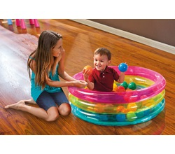 Детский бассейн для игр с шариками,  с тройным кольцом, 1-3 года