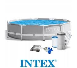 Бассейн каркасный круглый INTEX Prism Frame Pool 3,05х0,76 м (от 6 лет)