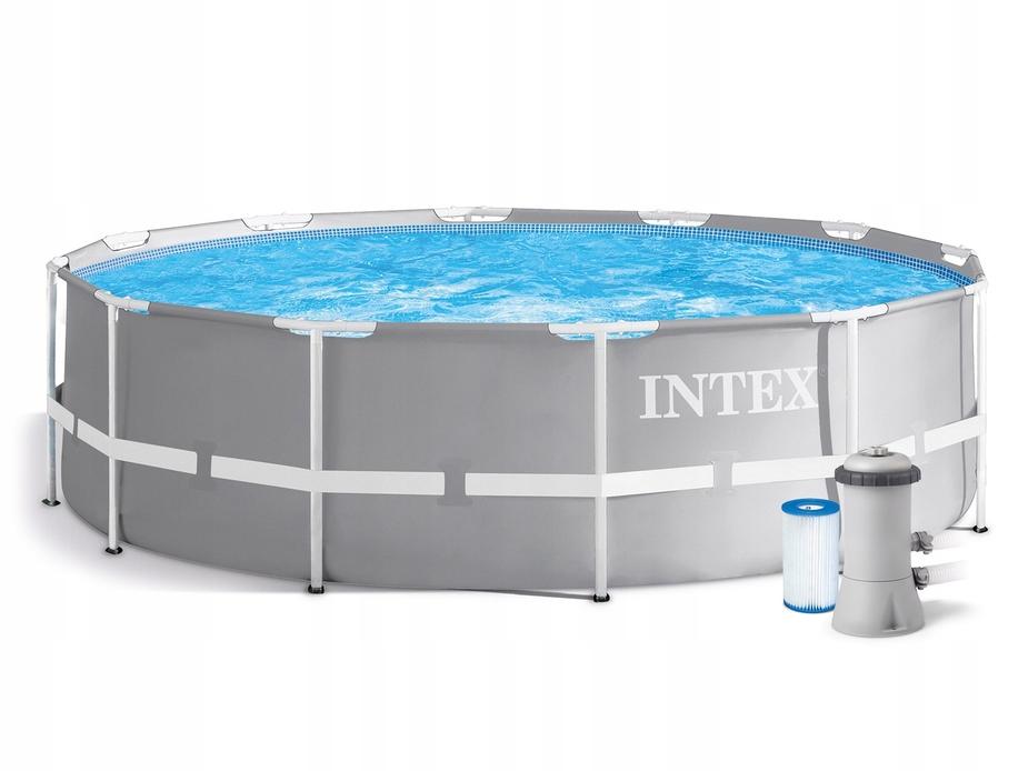 Каркасный бассейн круглый INTEX Prism Frame Pool 4,57х1,07, фильтр-насос 3785 л/ч (от 6 лет)