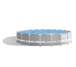 Бассейн каркасный Prism Frame 610х32 см, фильтр-насос, лестница, тент, подстилка (от 6 лет)