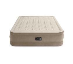 Удобная надувная кровать с плюшевым покрытием 1.52mx2.03mx46cm  (встроенный электронасос 220-240 В)