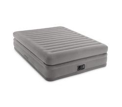 Высокая надувная кровать (двухспальная) повышенного комфорта со встроенным электронасосом (220-240 В)
