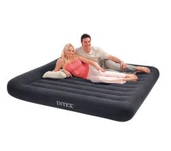 Классический надувной матрас с подголовником (двухспальный)