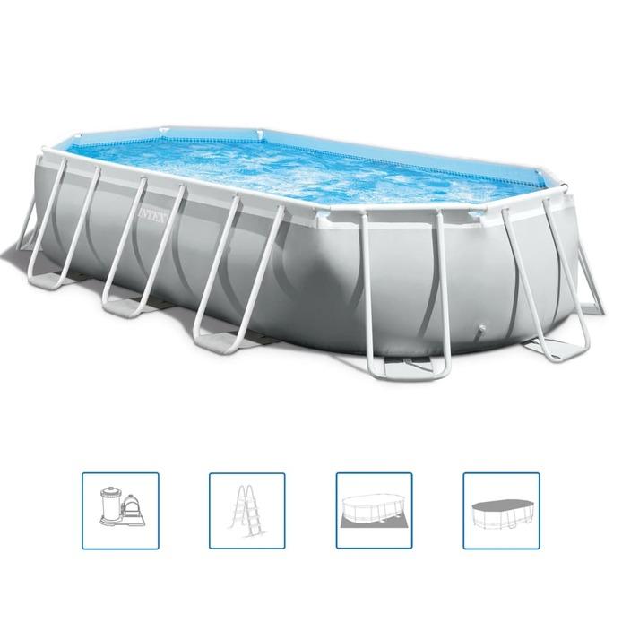 Бассейн каркасный Prism Frame 503х274х122 см, фильтр-насос, лестница, тент, подстилка (от 6 лет)