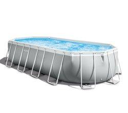 Набор прямоугольный каркасный бассейн PRISM FRAME™ OVAL 610х305х122 см, 18202 л (от 6 лет)
