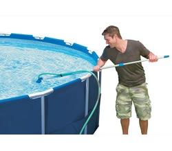 Комплект для очистки бассейна с выдвижной рукояткой