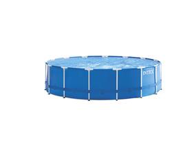 Каркасный бассейн круглый INTEX Metal Frame 4,57х1,22, фильтр-насос (от 6 лет)