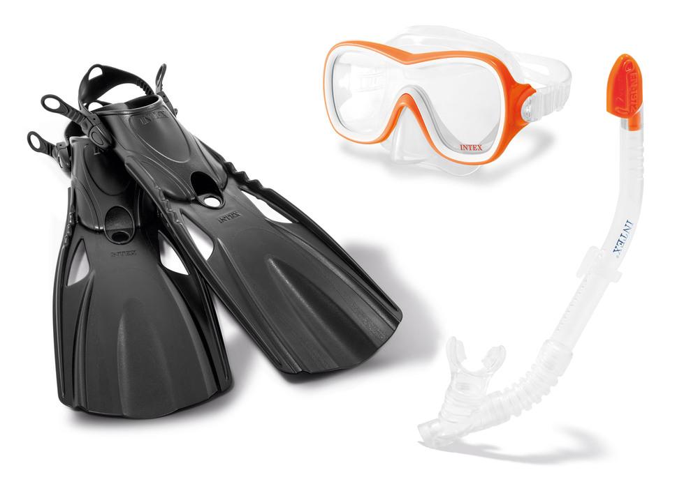 """Набор для подводного плавания """"Wave Rider"""", 3 предмета: маска, трубка, ласты, от 8 лет"""
